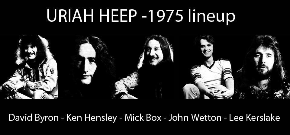URIAH HEEP 1975 lineup